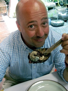 host Andrew Zimmern, one of my new heroes
