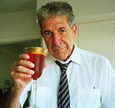 A toast from Mr. Leonard Cohen